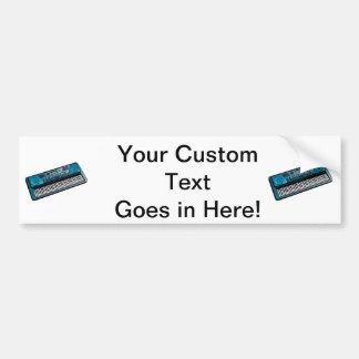 keyboard electronic blue.png bumper sticker