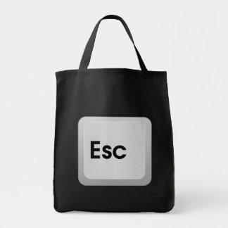 Keyboard Escape Key Grocery Tote Bag