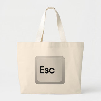 Keyboard Escape Key Jumbo Tote Bag