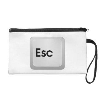 Keyboard Escape Key Wristlet Purse