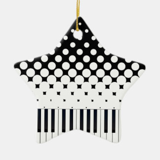 Keyboard Grunge Ceramic Star Decoration
