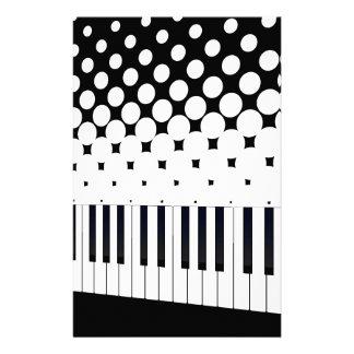 Keyboard Halftone Stationery Design