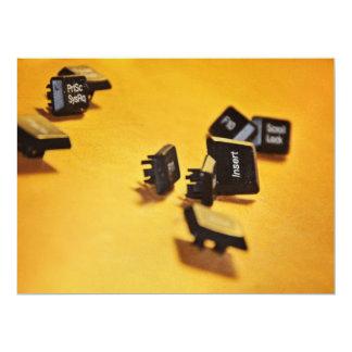 Keyboard keys 17 cm x 22 cm invitation card