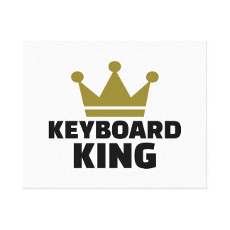 Keyboard King Stretched Canvas Print