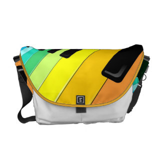 Keyboard Music Party Colors Commuter Bag