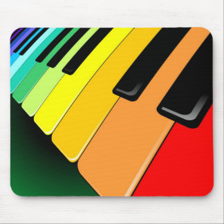 Keyboard Music Party Colors Mouse Pad
