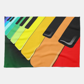 Keyboard Music Party Colors Tea Towel