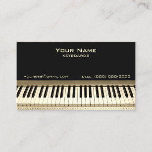 Musician business cards zazzle uk keyboard musician business card colourmoves