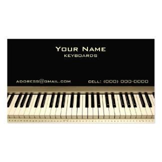 Keyboard Musician Business Card