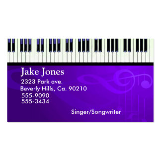 Keyboard Piano Couture Pack Of Standard Business Cards