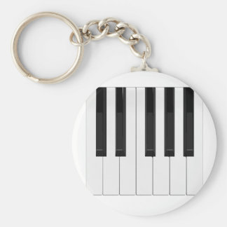 Keyboard / Piano Keys: Basic Round Button Key Ring