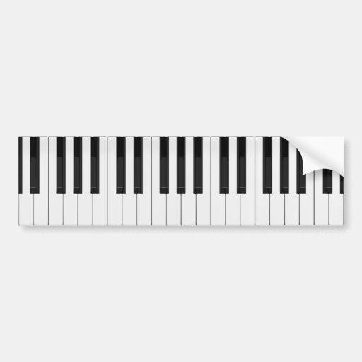 Keyboard / Piano Keys Bumper Sticker