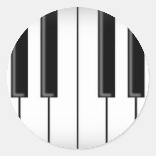 Keyboard / Piano Keys: Round Sticker
