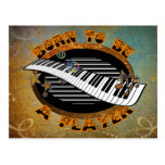Keyboard Player Postcard