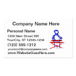 Keyboard player stick outline red blue cutout business cards