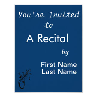 """keyboard scroll and notes black.png 4.25"""" x 5.5"""" invitation card"""