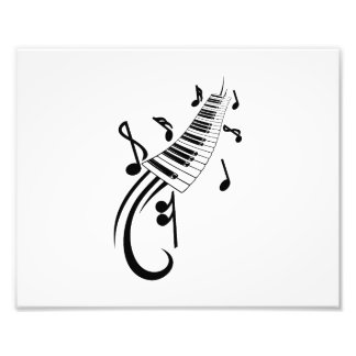 keyboard scroll and notes black png art photo
