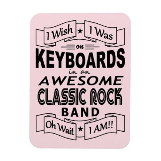 KEYBOARDS awesome classic rock band (blk) Magnet