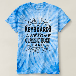 KEYBOARDS awesome classic rock band (blk) T-Shirt