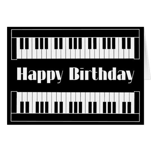 Keyboards Happy Birthday Greeting Cards