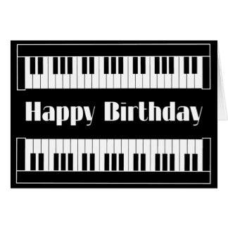 Keyboards Happy Birthday Greeting Card