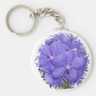 Keychain African Violets Purple Flowers Bouquet