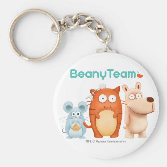 Keychain: BeanyTeam™ - Cat & Mouse & Dog