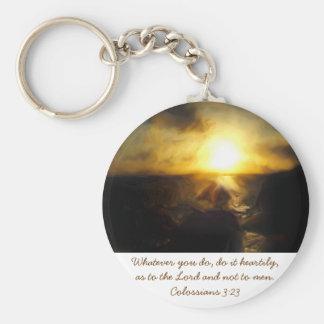 Keychain Bible Scripture ~ Whatever You Do...