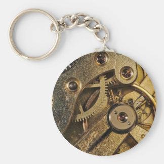 KeyChain: Brass Hearted. Watch Mechanism Key Ring