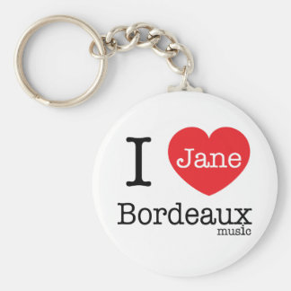 "Keychain (Classic Button 2.25"") - I Love Jane Bord"