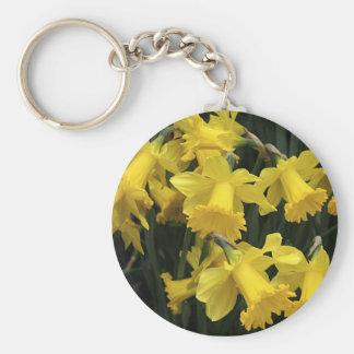 "Keychain, ""Daffodil Mass"" Basic Round Button Key Ring"