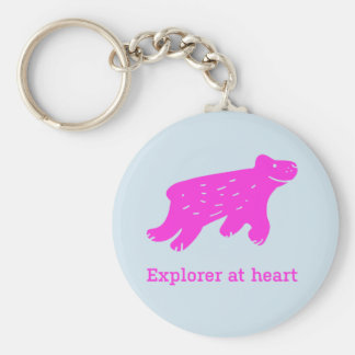 "Keychain ""Explorer at heart"""