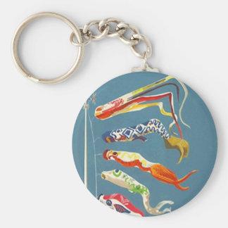 KEYCHAIN FESTIVE KOINOBORI FISH CARP STREAMERS