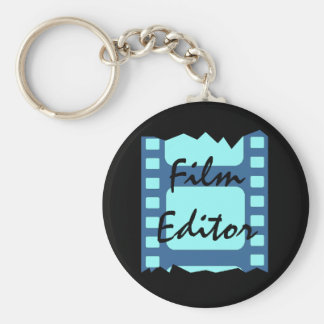 KEYCHAIN FOR THE FILM EDITOR ~ MOVIE BUFF ~CRITIC