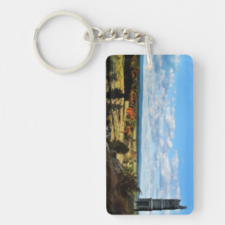 Keychain- Gettysburg 2 views from Little Round Top Double-Sided Rectangular Acrylic Key Ring