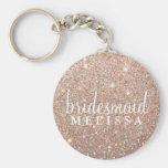 Keychain Glitter Bridesmaid - Rose Gold
