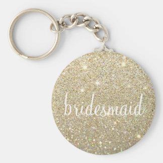 Keychain - Glitter Fab Bridesmaid