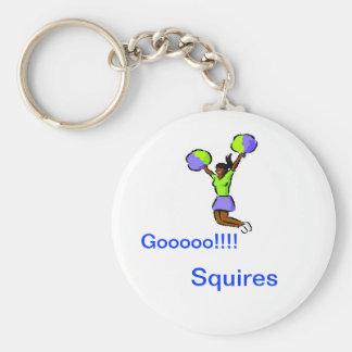 Keychain- Gooooo!!!!, Squires Basic Round Button Key Ring