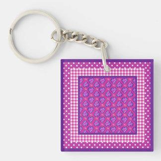 Keychain, Hearts, Flowers, Checks, Polka Dots Key Ring