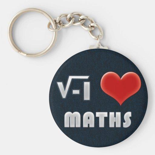 Keychain I LOVE MATHS