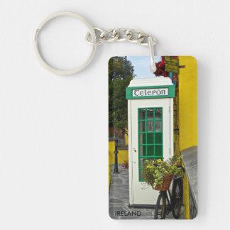 keychain, IRELAND -vintage phone booth