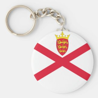 Keychain - Jersey Flag
