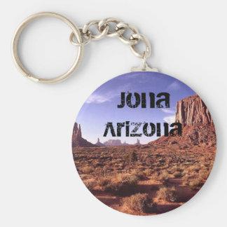 Keychain-Jona Arizona Basic Round Button Key Ring