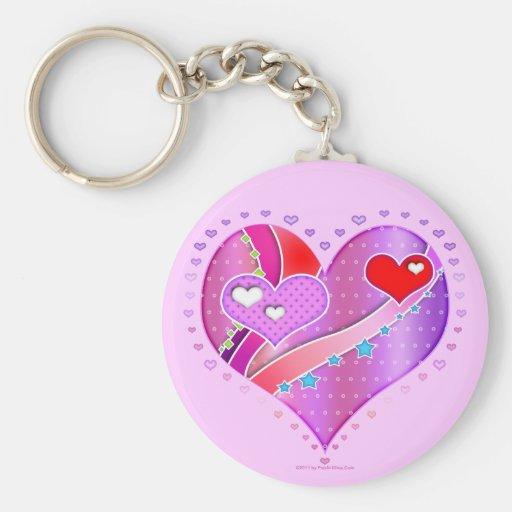 Keychain - Pink Heart, Valentine