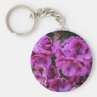 "Keychain, ""Purple Azalea Blossoms"" Key Ring"