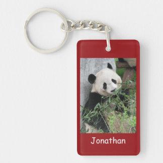 Keychain, Rectangular Double Sided Giant Pandas Double-Sided Rectangular Acrylic Key Ring