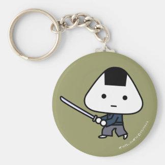 Keychain - RiceBall Samurai - GoldBack