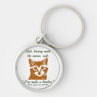 Keychain Round: The Cat
