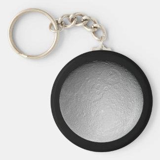 Keychain: Saturn's moon Rhea Key Ring
