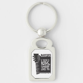 keychain Silver-Colored rectangle key ring